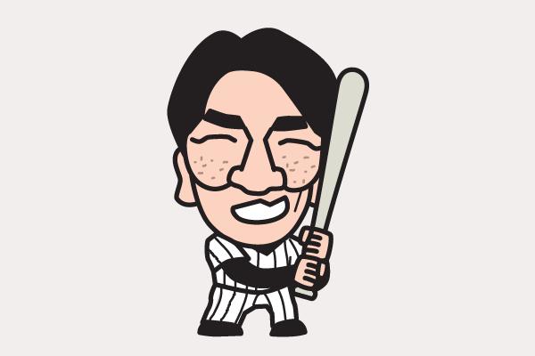 松井秀喜 イラスト似顔絵