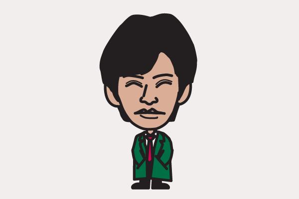織田裕二 イラスト似顔絵