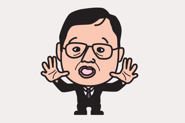 岡田武史 イラスト似顔絵