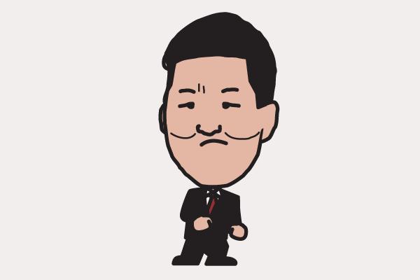 島田紳助 イラスト似顔絵