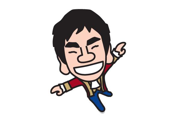 織田信成の似顔絵画像