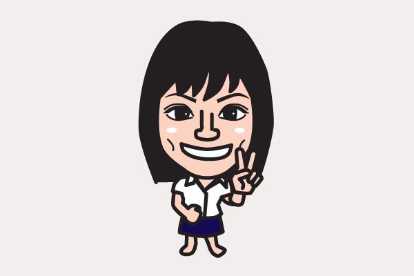相武紗季の似顔絵画像