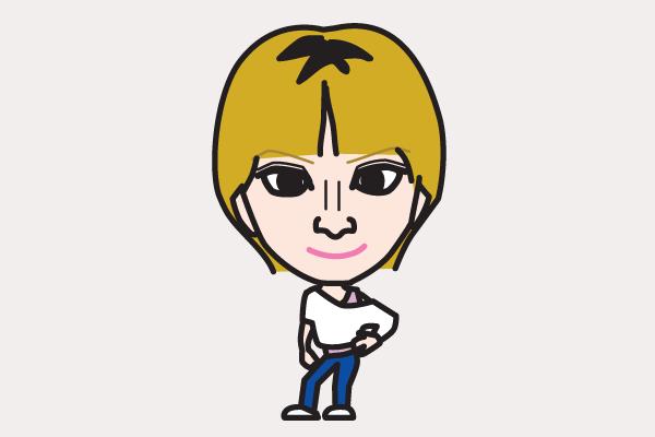 浜崎あゆみの似顔絵画像