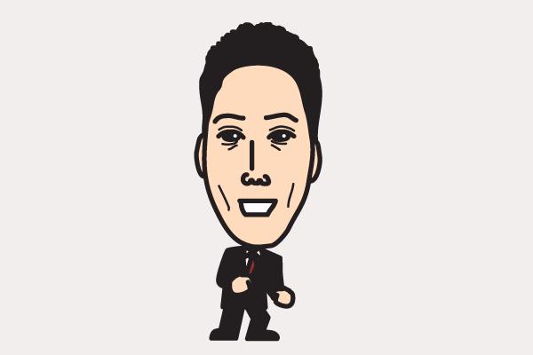 東野幸治の似顔絵画像