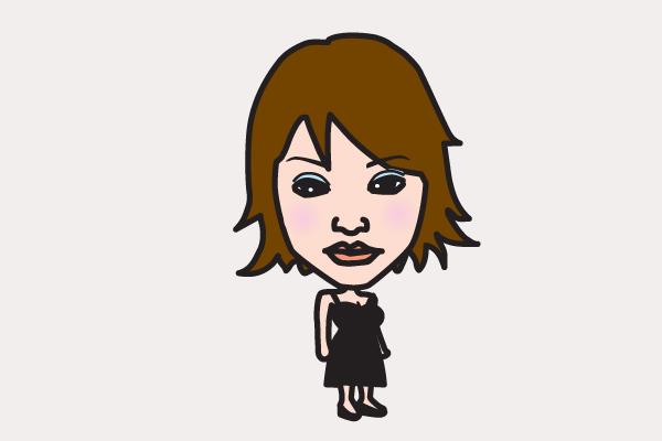 井川遥の似顔絵画像