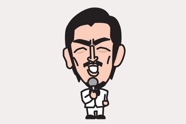 ムーディ勝山の似顔絵画像