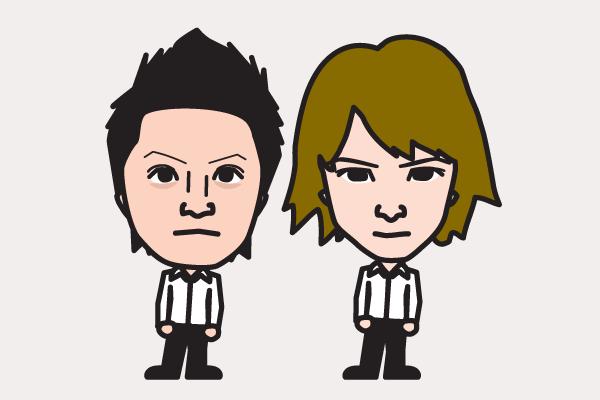 KinKi Kidsの似顔絵画像