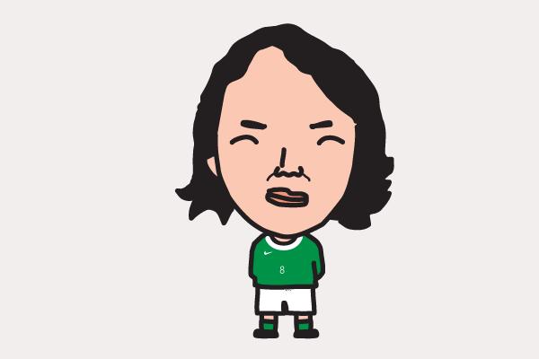 北澤豪の似顔絵画像