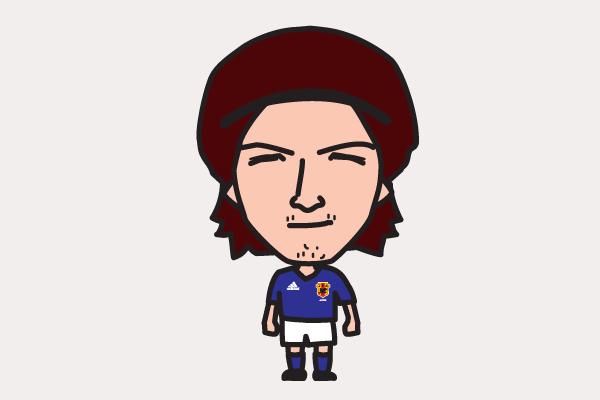 松田直樹の似顔絵画像