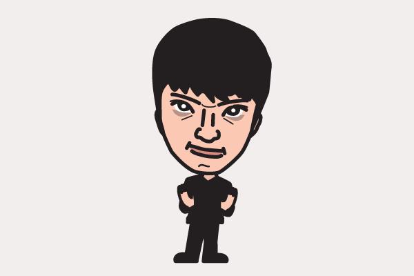 長井秀和の似顔絵画像