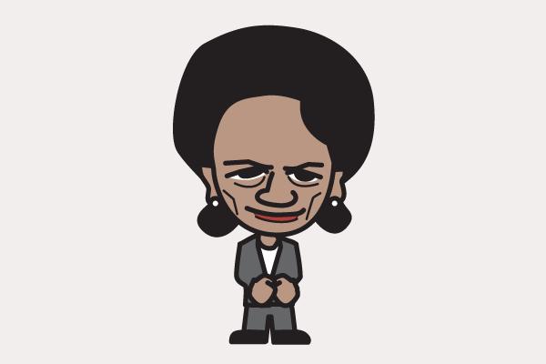 ライス国務長官の似顔絵画像