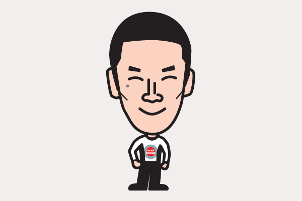 佐藤琢磨の似顔絵画像