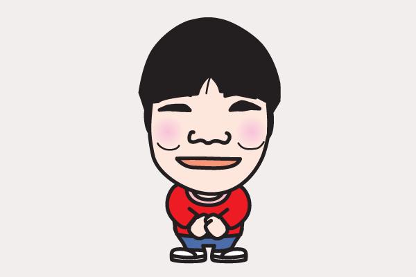 山田花子の似顔絵画像