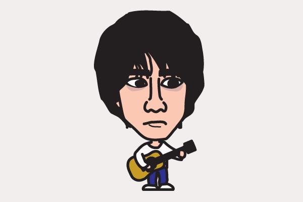 山崎まさよしの似顔絵画像